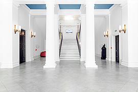 Der Eingangsbereich frisch renoviert